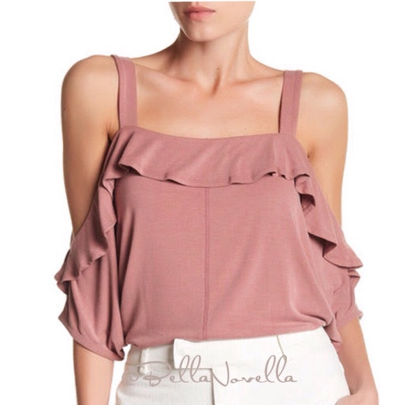 072178a6998 Harlow & Graham Tops | Harlow Graham Dusty Rose Ruffle Top | Poshmark